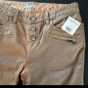 Free People Skinny Moto-style jeans NWT 29